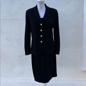 {St John}Woman's 3 Piece Black Knit outfit